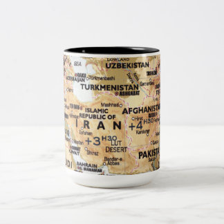 中東地図のマグ ツートーンマグカップ