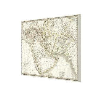 中東地図書の地図 キャンバスプリント