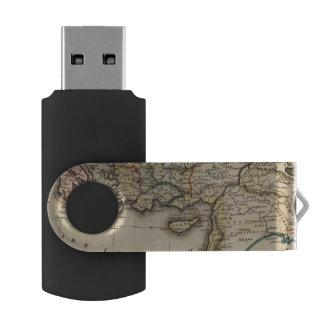 中東地図書の地図 USBフラッシュドライブ