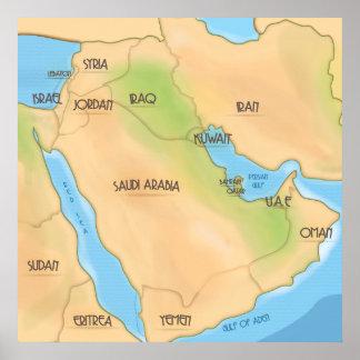 中東 ポスター