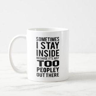 中滞在; そこの余りにPeopley コーヒーマグカップ