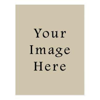 中立アーモンドベージュ色の傾向のブランクのテンプレート ポストカード