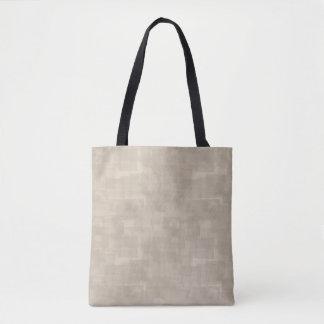 中立ブラウンの抽象的な正方形パターン トートバッグ