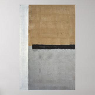 中立抽象美術ポスタープリント「の上で」 ポスター