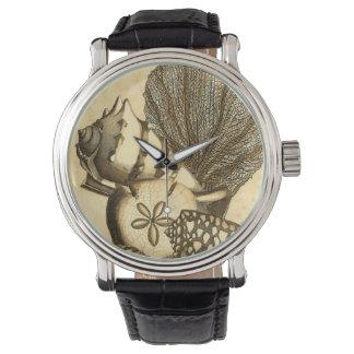 中立貝および珊瑚のコレクション 腕時計