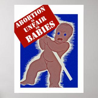 中絶はベビーに不公平です ポスター