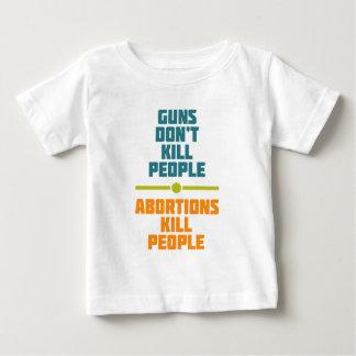中絶は人々を殺します ベビーTシャツ