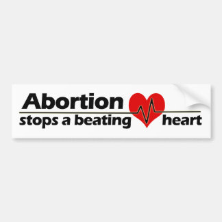 中絶は妊娠中絶反対打つハートをストップ バンパーステッカー