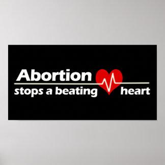 中絶は妊娠中絶反対打つハートをストップ ポスター