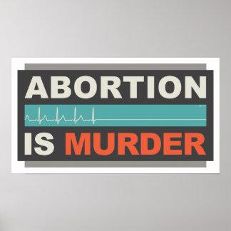 中絶は殺害です ポスター