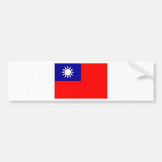 中華民国(台湾)の旗-中華民國國旗 バンパーステッカー