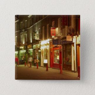 中華街、Soho、ロンドン、イギリス、イギリス 5.1cm 正方形バッジ