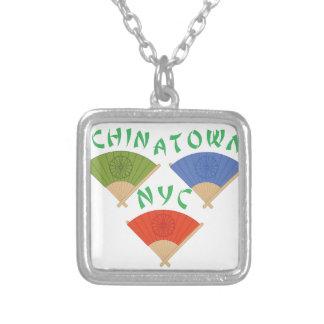 中華街NYC シルバープレートネックレス
