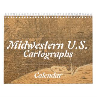 中西部米国Cartographsのカレンダー カレンダー