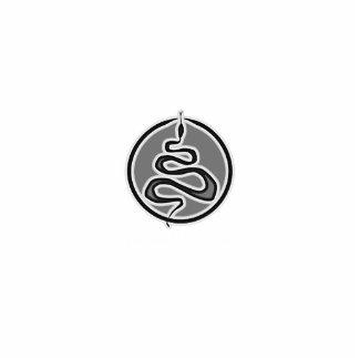 中間のヘビのロゴのフォトスカルプチャー 写真彫刻(台付き)