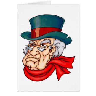 中間の古いScrooge グリーティングカード