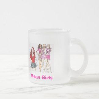 中間の女の子 フロストグラスマグカップ