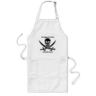 中間の海賊グリルか台所エプロン ロングエプロン