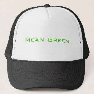 中間の緑 キャップ