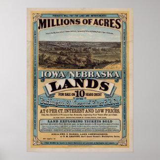 中間の19世紀の不動産の土地ポスター ポスター