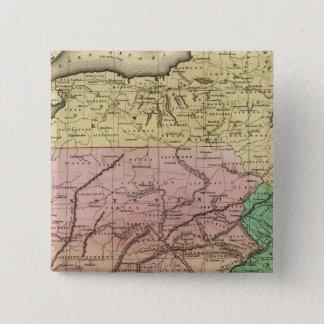 中間はOlneyの地図を示します 5.1cm 正方形バッジ