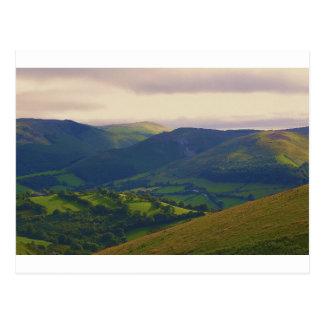 中間ウェールズの景色 ポストカード