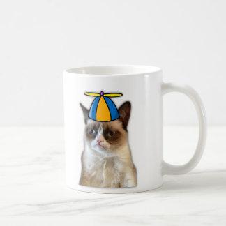 中間猫の顔のマグ コーヒーマグカップ
