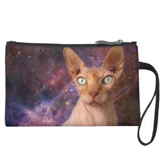 中間猫はあなたの物を保護します スエードクラッチ