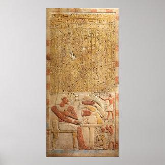 中間王国の古代エジプトの象形文字 ポスター