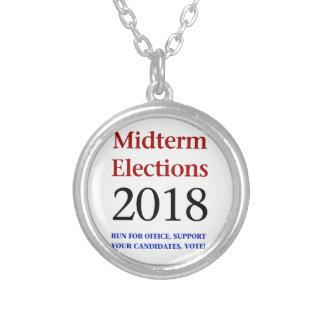 中間選挙2018年 シルバープレートネックレス