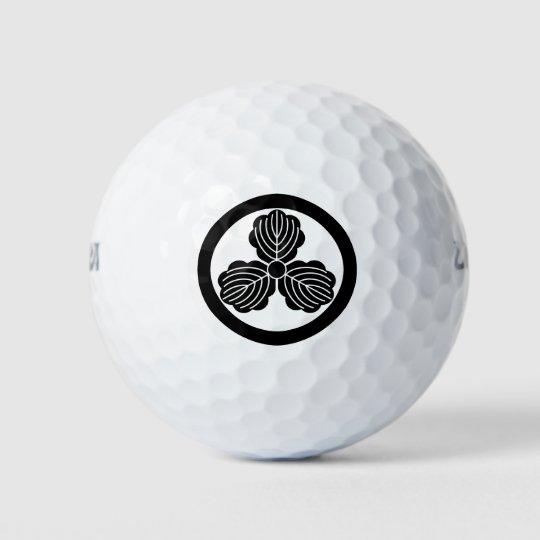 丸に三つ柏 ゴルフボール