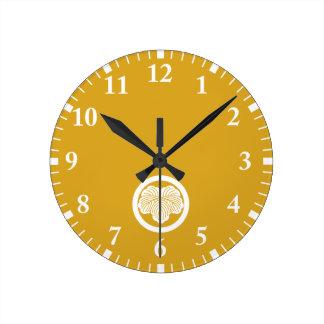 丸に蔦 ラウンド壁時計