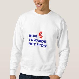丸太およびスローガンのトレーナーからの方にない走って下さい スウェットシャツ