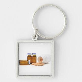 丸薬および薬のボトル キーホルダー