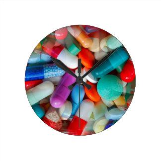 丸薬薬剤 ラウンド壁時計