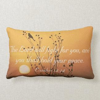 主によってはあなたのために聖書の詩の枕が戦います ランバークッション
