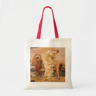 主によってLeighton小石を取っているギリシャの女の子 トートバッグ