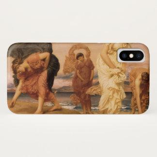 主によってLeighton小石を取っているギリシャの女の子 iPhone X ケース