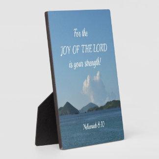 主の喜びのためのNehemiahの8:10はあなたのです フォトプラーク