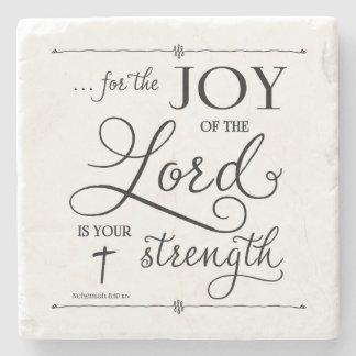 主の喜び- Nehemiahの8:10 ストーンコースター