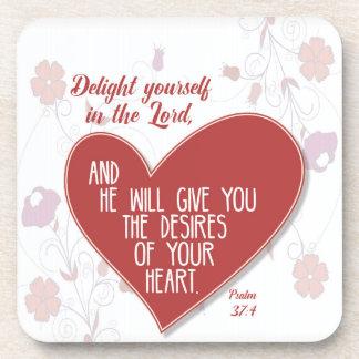 主の賛美歌の37:4の歓喜あなた自身… コースター