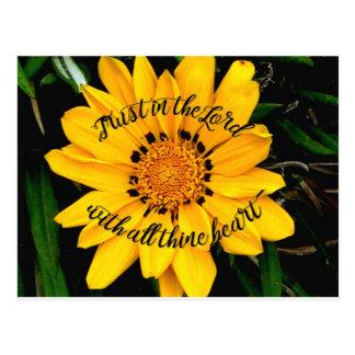 主のBright Yellow Flower信頼 ポストカード