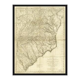 主のCornwallis Map (1787年) 3月 キャンバスプリント