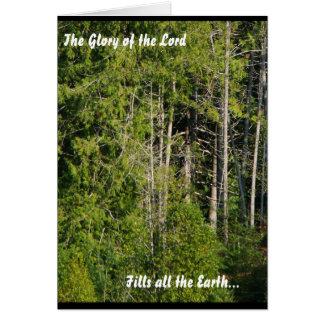 主のForest Meadow Natureオレゴンの景色の栄光 グリーティングカード