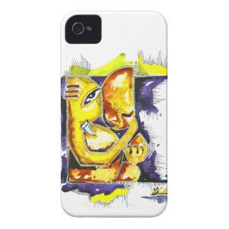 主のGaneshaハンドメイドの抽象的な絵画 Case-Mate iPhone 4 ケース