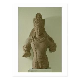 主のVishnu、マトゥラ(赤い砂岩)姿 ポストカード