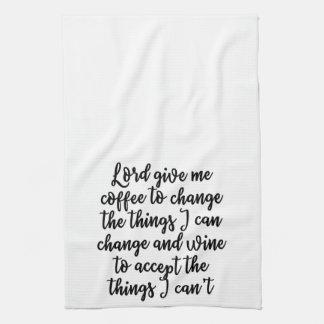 主は私にコーヒータオルを与えます キッチンタオル