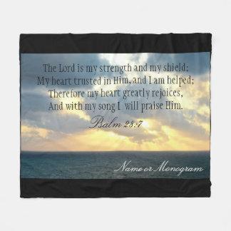 主は私の強さの賛美歌のクリスチャンの聖書です フリースブランケット