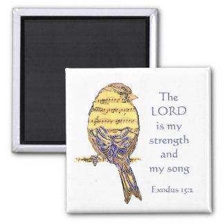 主は私の強さ及び歌の聖なる書物、経典の鳥音楽です マグネット
