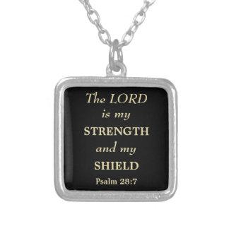 主は私の盾の金ゴールドのクリスチャンです シルバープレートネックレス